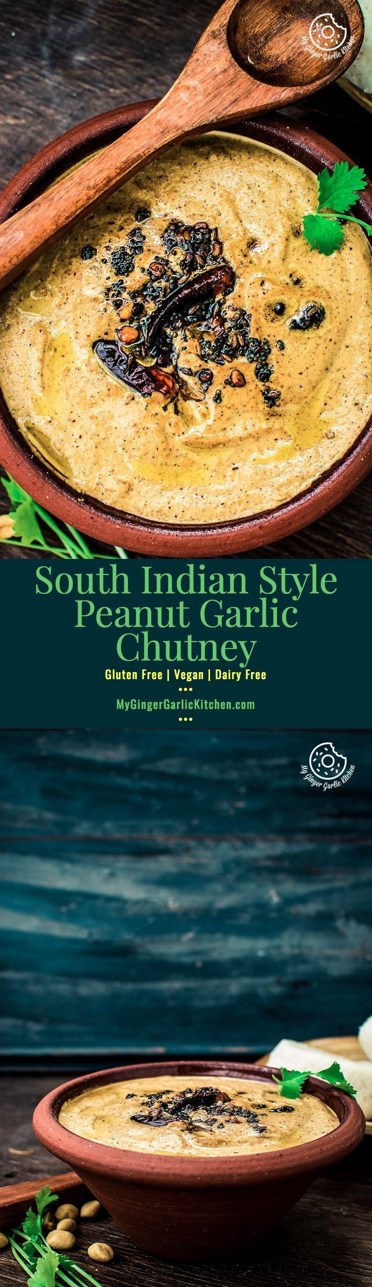 How To Make South Indian Style Peanut Garlic Chutney is a thick, classic, creamy, sweet, and spicy-nutty chutney. This is best accompanied with idli, dosa & uttapam and all type of parathas, or any other Indian snacks. From: mygingergarlickitchen.com/ #vegan #chutney #peanut #indianchutney #southindiancuisine #vegetarian #videorecipes #Sidedish