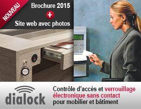 Dialock - le contrôle d'accès électronique sans contact pour mobilier et bâtiment. Une solution unique !  La brochure 2015 : http://easylink.hafele.com/is-bin/intershop.static/WFS/HFR-EasyLink_HFR-Site/Haefele/fr_FR/websitecontent/files/Hafele_Dialock_2015.pdf  Le site web Dialock : http://www.dialock.ch/fr/page-daccueil.html  Dialock est un système sûr, économique, flexible et design, adopté par les plus grandes marques de luxe et par les plus grandes chaînes d'hôtels à travers le monde.