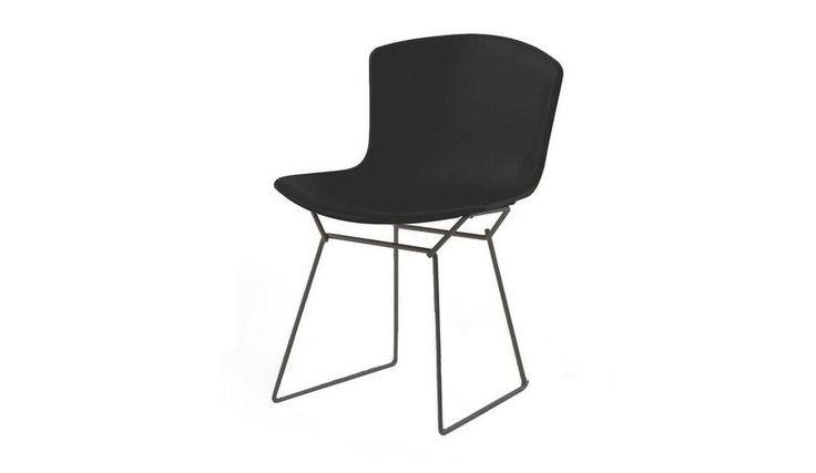 Knoll Bertoia Plastic Side Chair Frame Black