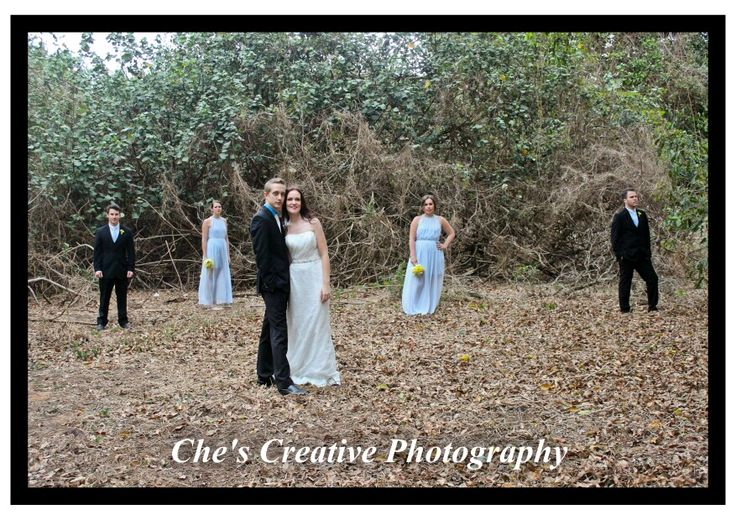 Wedding party, group pics, twilight feel