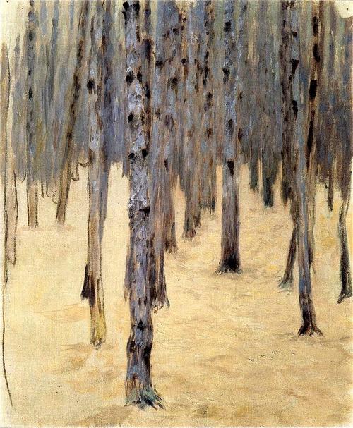 """""""Pine Forest in Winter"""" by Koloman Moser, 1907"""