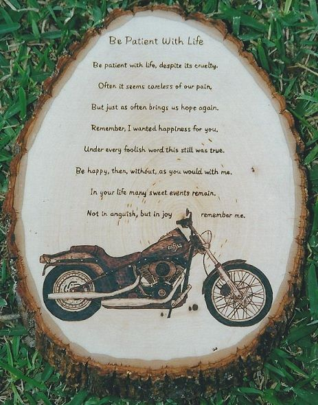 motor cycle poems