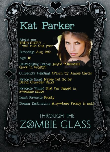 Meet Kat from Through the Zombie Glass by Gena Showalter