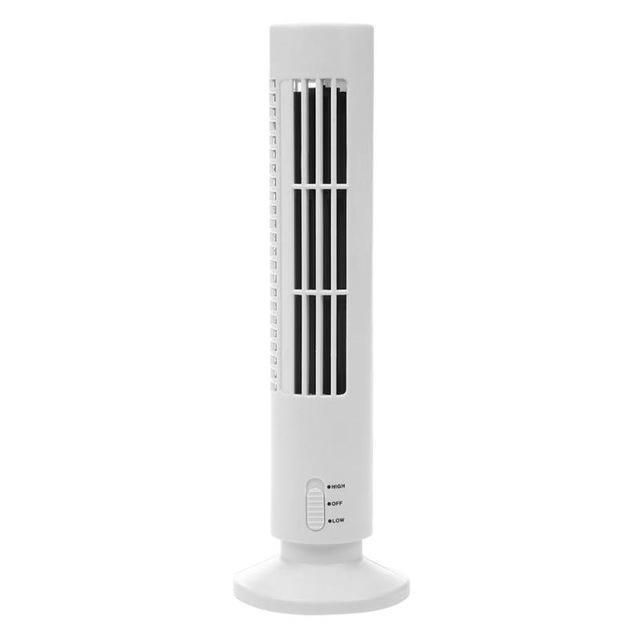 Usb Vertical Bladeless Mini Air Conditioner Fan Portable Air