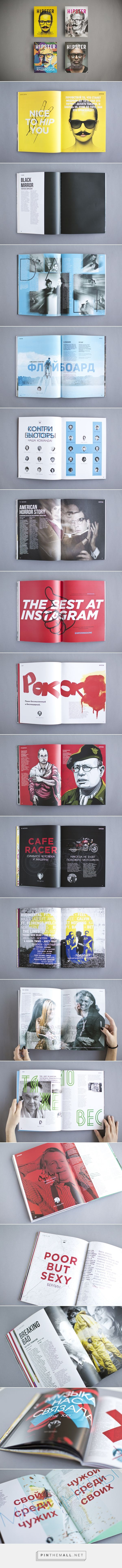 Hipster Magazine 1 / 2 / 3 / 4 issues. on Editorial Design Served - created via http://pinthemall.net