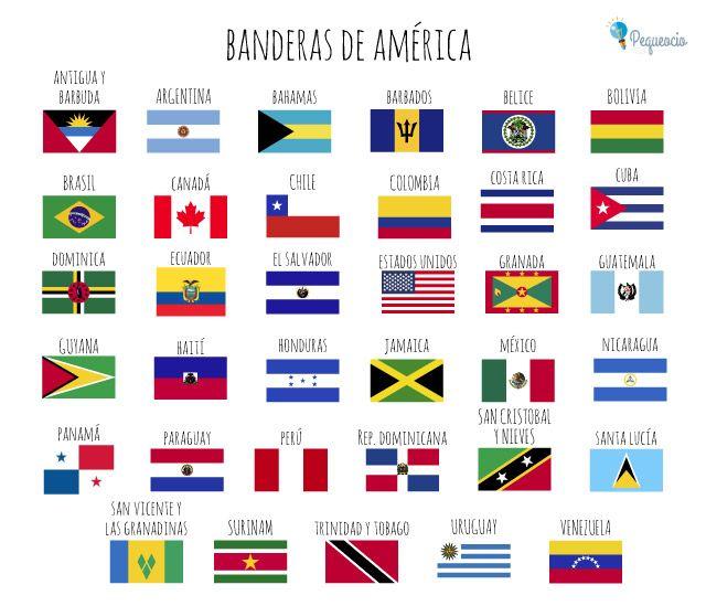 Banderas Del Mundo Para Imprimir Gratis Pequeocio Banderas Del Mundo Banderas Del Mundo Con Nombres Banderas