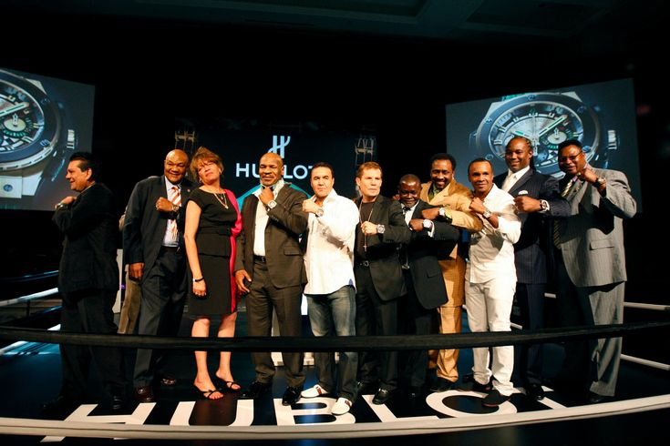 #Boxing legends show their honorary watches at the Inauguration of the #Hublot World #Boxing Council Pension Fund in Las Vegas