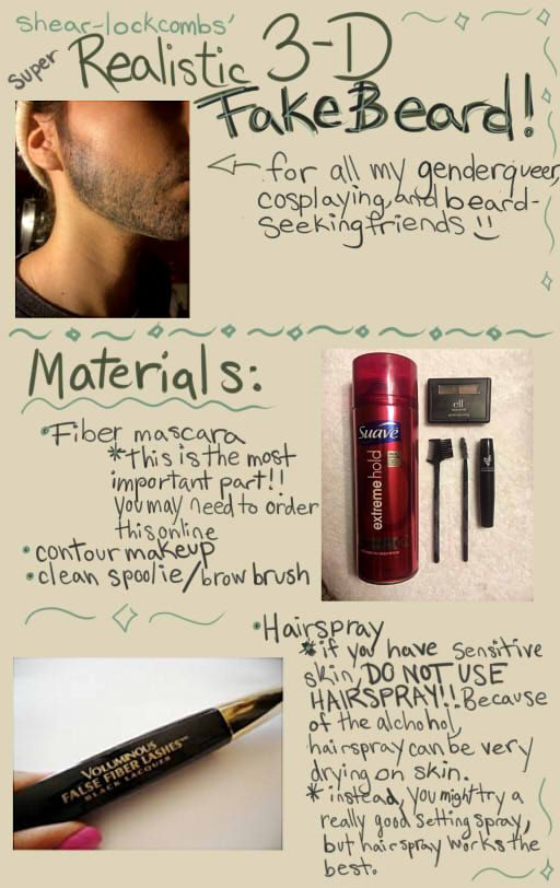 beard tutorial for cosplay. not planning on cosplayong anyone with a beard but still good to know