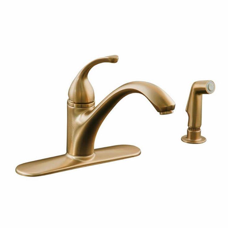 Kitchen, Short Arm Modern Golden Style Best Kitchen Faucet Manufacturers: Kohler Kitchen Faucets with Various Features