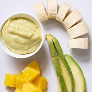 Comida para bebé piña+aguacate+plátano (6+ meses)