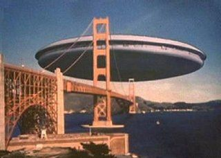 The Visitors' mothership from the V tv series, 1984.