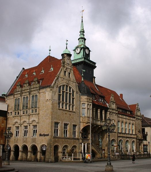 Bückeburg, Germany. Town hall from 1905/06.