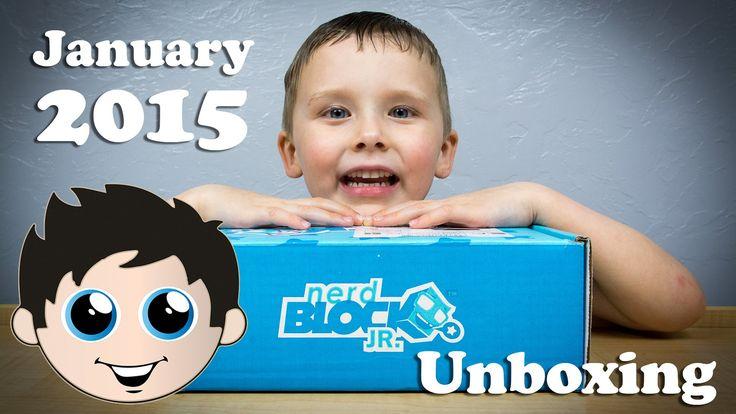 Nerd Block Jr Boys Edition January 2015 Mystery Toy Unboxing!