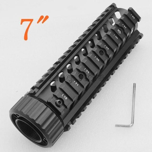 "Paintball Airsoft 7"" 9"" 12"" M16 M4 AR-15 Quad Rail Handguard"