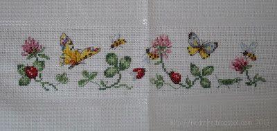 RicamIre: Canovaccio api e farfalle