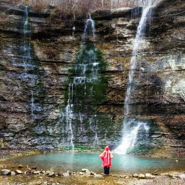 Triple Falls- Easy Hike to 48 ft waterfall in the Buffalo National River area
