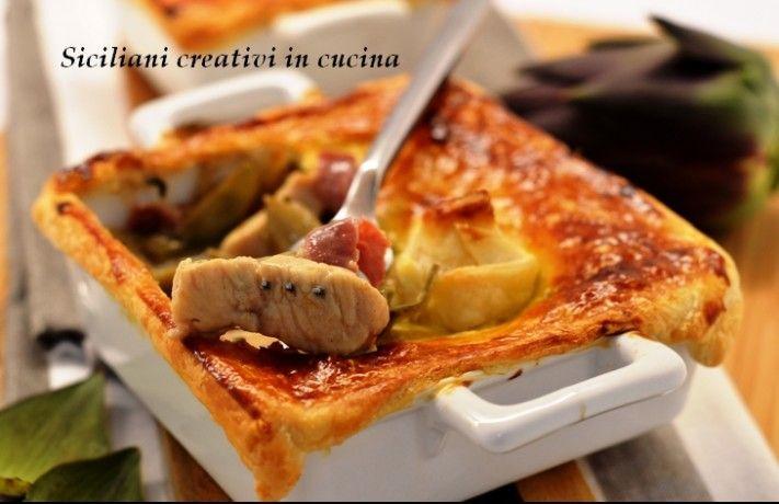 Pollo, carciofi e bacon in pasta sfoglia by sicilianicreativiincucina