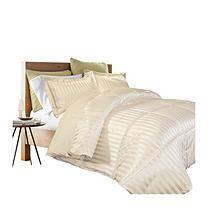 Kathy Ireland Home - Damask Stripe Full/Queen Comforter Set - Bone