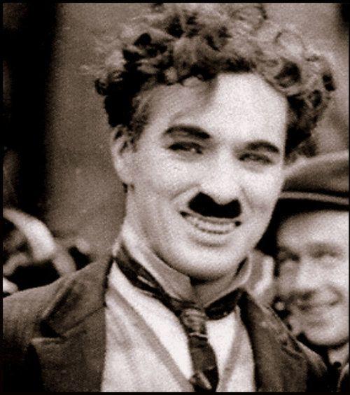 "Charlie Chaplin on set of ""The Kid"", circa 1919/1920."