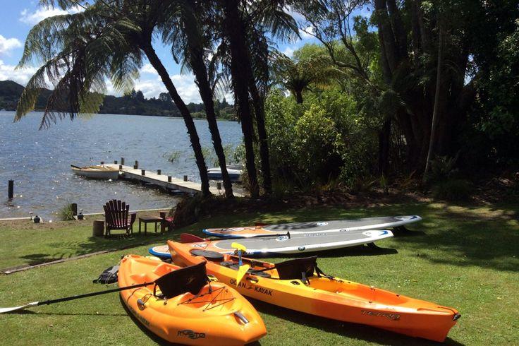 """The Love Shack""  Lake Front Cottage. in Okere Falls, Lake Rotoiti | Bookabach"