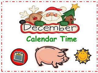 December Calendar in Powerpoint or Smartboard