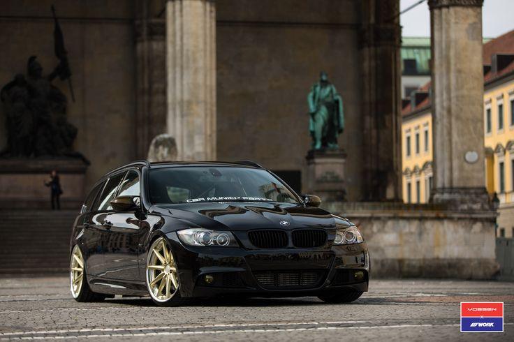 #BMW #E91 #335i #xDrive #Touring #MPackage #SapphireBlack #GoldWheels #VOSSENWheels #Hot #Sexy #Badass #Fast #Burn #Live #Life #Love #Follow #Your #Heart #BMWLife