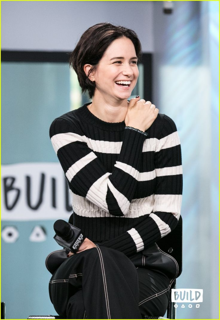 Katherine Waterston at Build Series interview on Tuesday (May 16, 2017) in New York City.