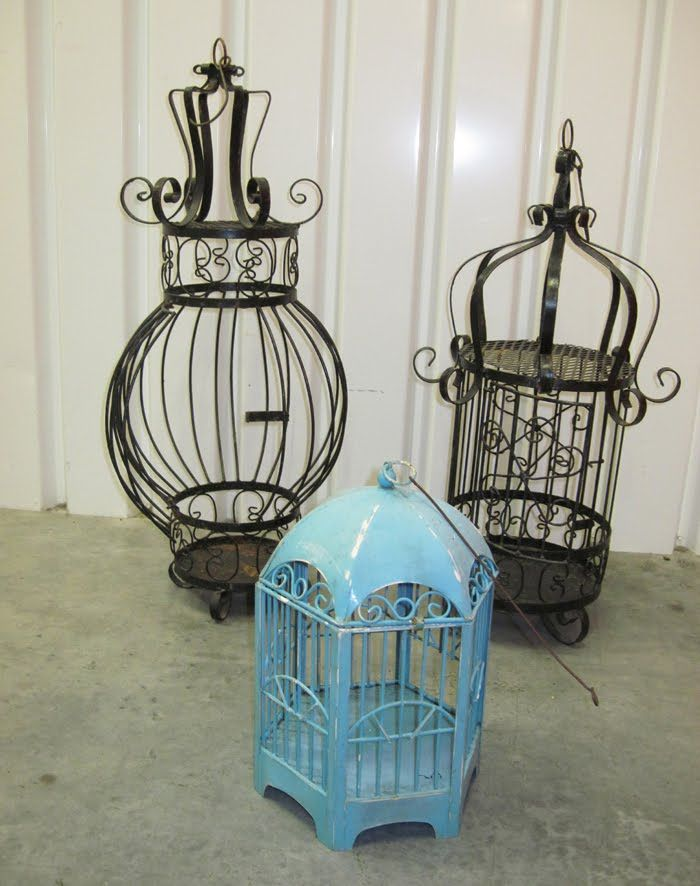 antique birdcages | marla henderson design: collection of antique bird cages