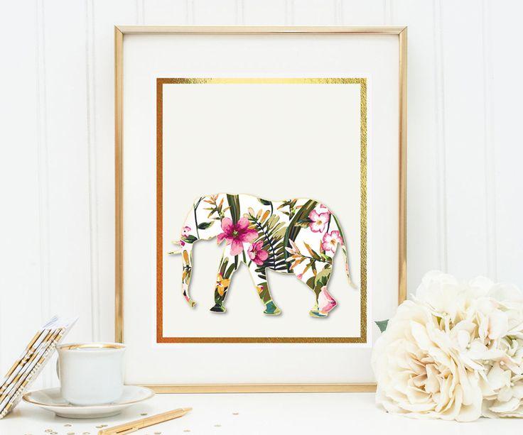 Un favorito personal de mi tienda de Etsy https://www.etsy.com/es/listing/560065819/elephant-with-watercolor-flowers