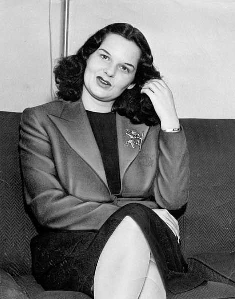 Virginia Hill -- Bugsy Siegel's mistress in whose home Bugsy was ambushed and murdered. -- 1955