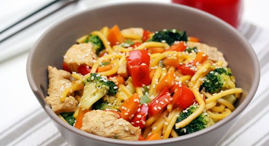 Seasame Chicken with Hokkien Noodles - weightloss.com.au