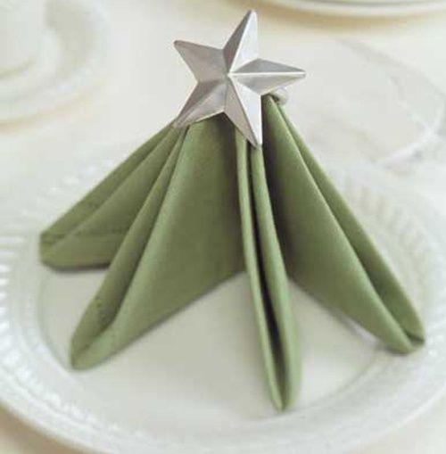 #Holiday #napkin folding christmas tree