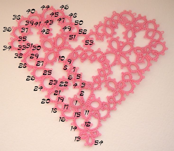 tatted heart pattern free