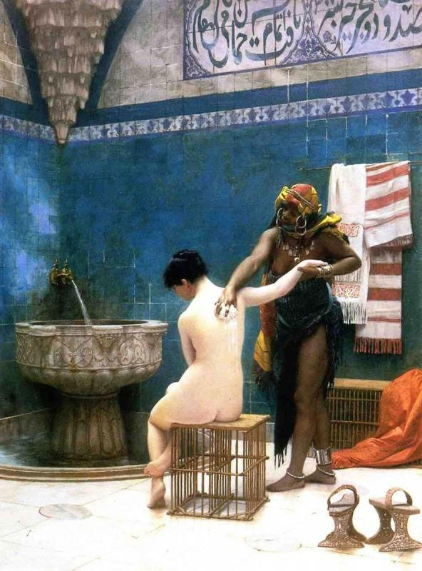 The Bath by Jean-Leon Gerome - Oil Painting Reproduction - BrushWiz.com