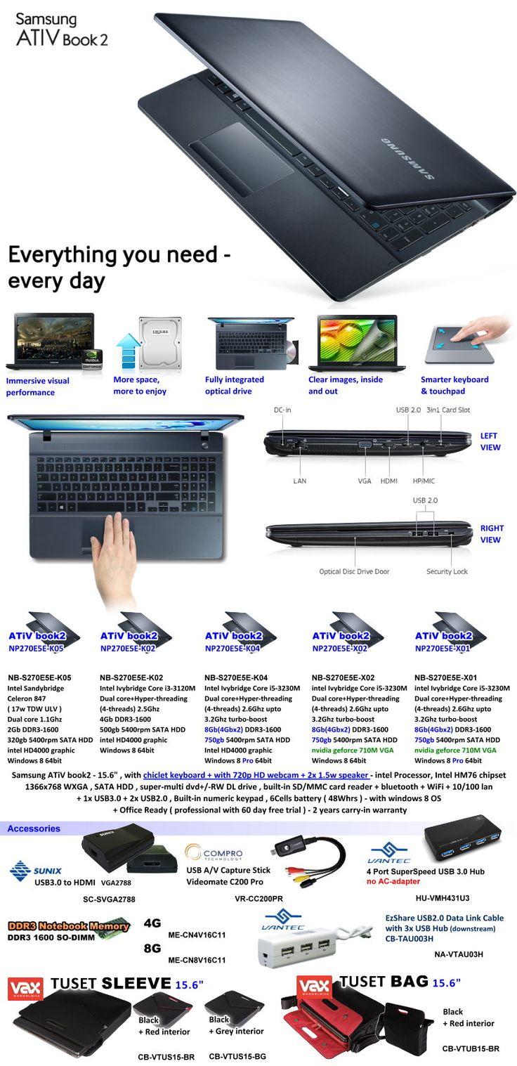 Notebook samsung ativ book 2 270e4e-kda - Samsung Ativ Book 2