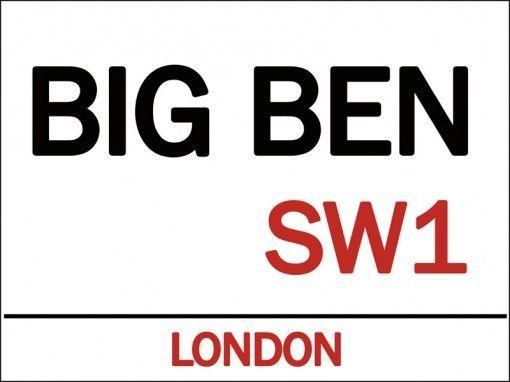 Big Ben Metal Sign, Iconic Clock,Symbol of Victorian London, Retro Den Bar Decor #OMSC #Unitedkingdom