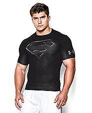 Superman T Shirts | Under Armour Men's Alter Ego Short Sleeve Compression Shirt Large Black