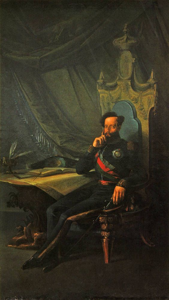 Pintura portuguesa de D.Pedro IV( D.Pedro I pra o Brasil)