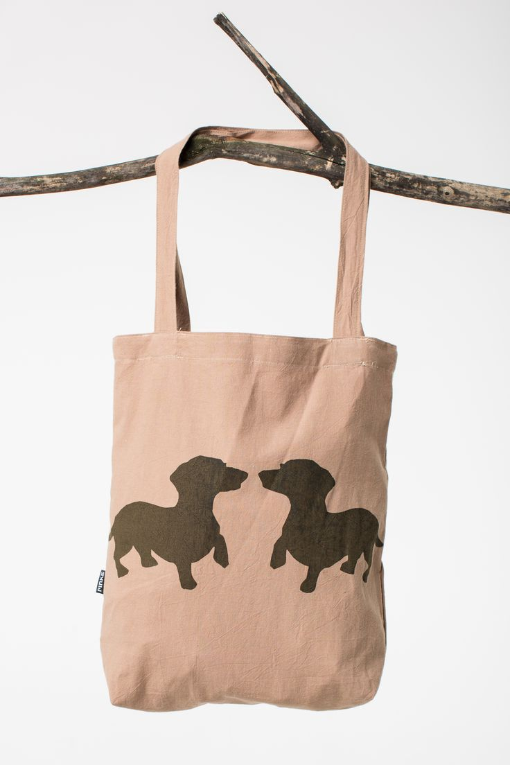 canvas bag with dachshunds