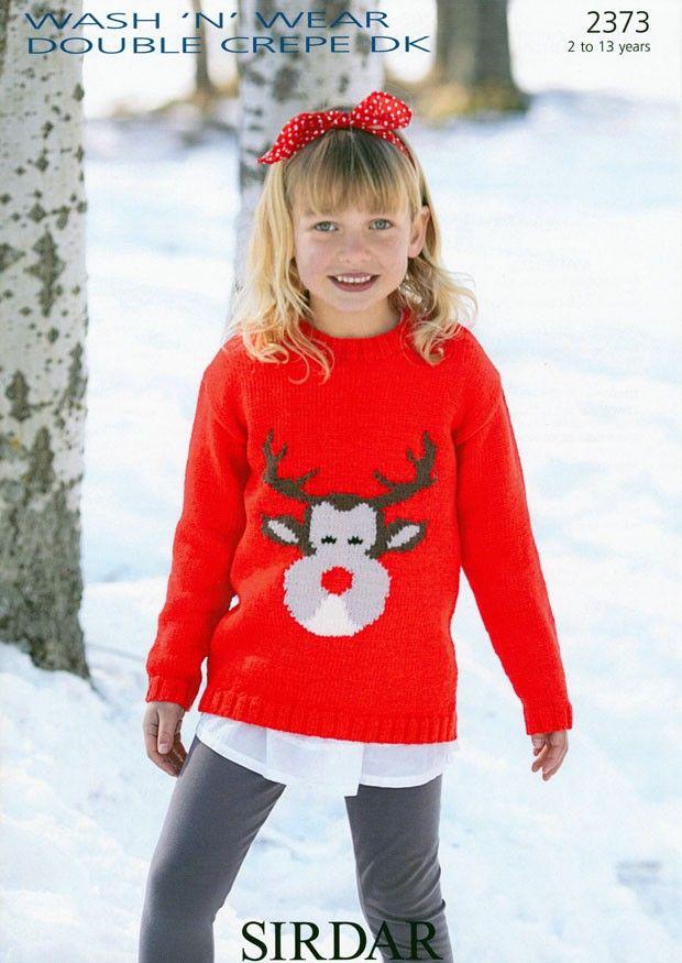 Reindeer Sweater in Sirdar Wash 'n' Wear Double Crepe DK (2373)