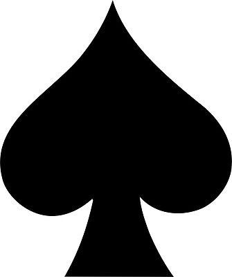 Spade Card Suit Symbol Vinyl Decal Sticker Car Window Wall Printed Casino Party Decor In 2019