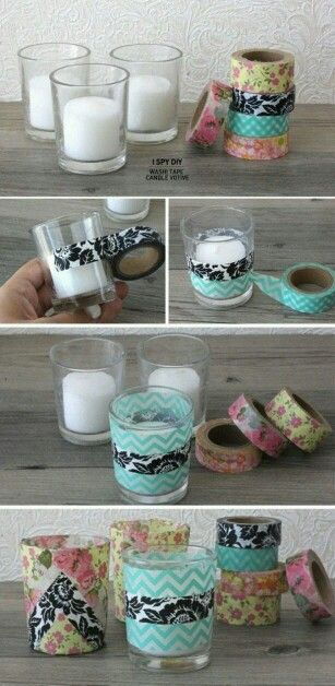 Diy candel decor