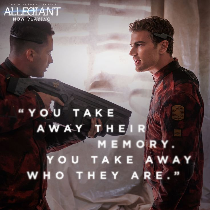 Four takes a stand against the Bureau. #Allegiant