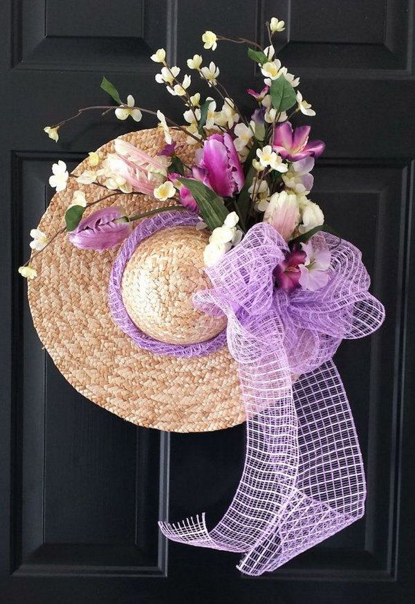 391 best ideas for decorating straw hats images on for How to decorate a hat for a tea party