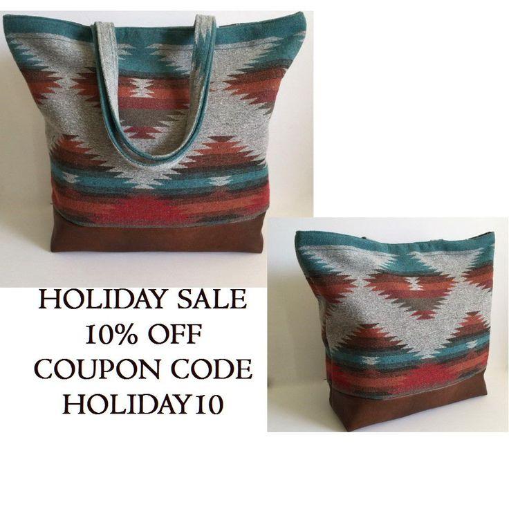 Tote Bag Southwestern Aztec Tote Bag Teacher Bag Weekend Bag Gift For Her (55.00 USD) by RavensMoonDesigns