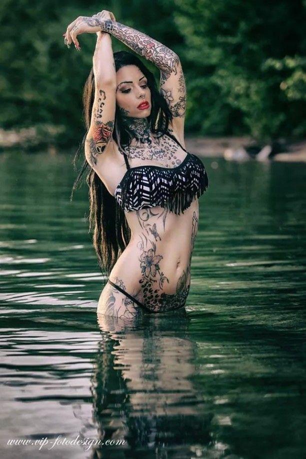 inked Girl Lady Tattoo Cat