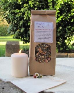 Soaking in a warm bath is a luxury that many pregnant women benefit from. This special blend can be used in your bath or in a foot bath. These fragrant herbs are calming and relaxing, and soothing for sore muscles or an aching back. Make sure you are well hydrated while having a warm (not too hot) bath during pregnancy.