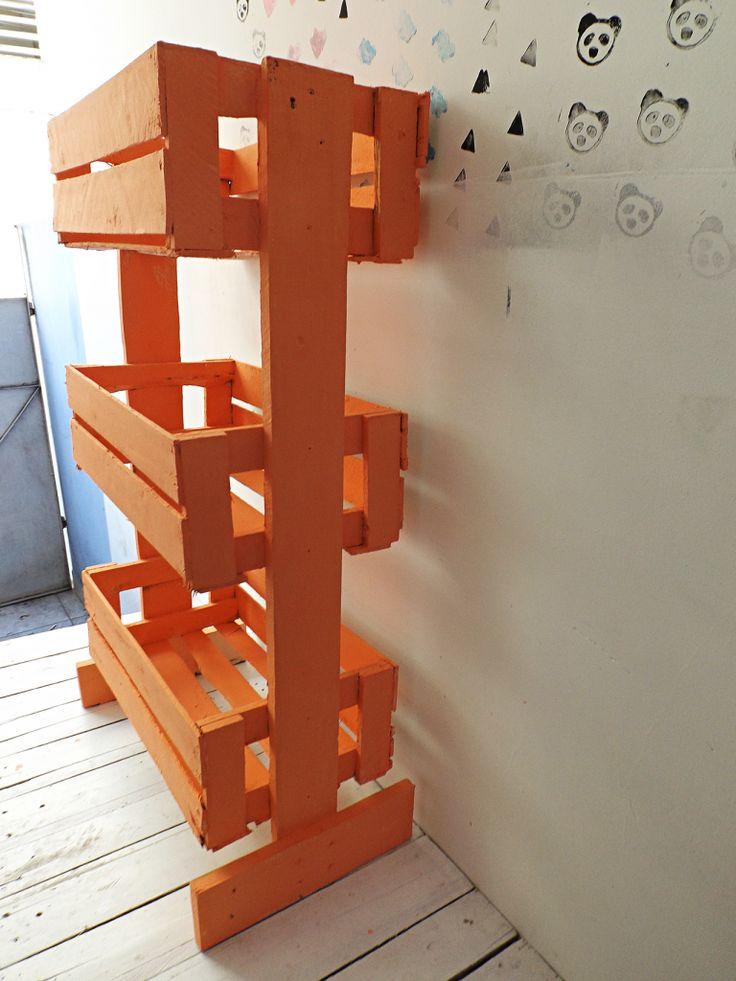 DIY Fruteira com caixote de feira - Ideias em Casa