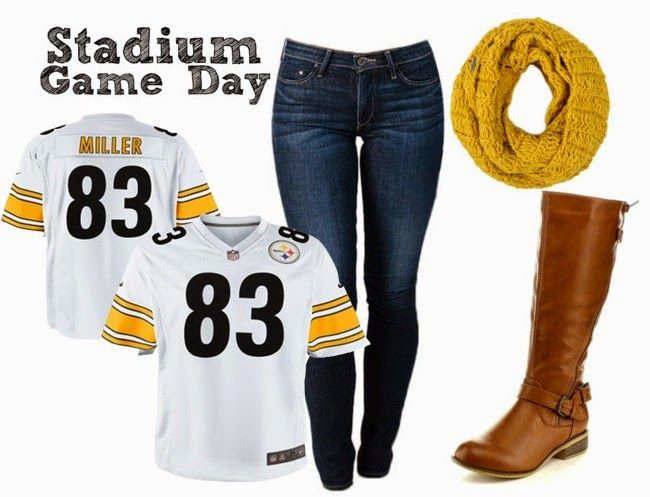 Fashion Forward Fridays: NFL Game Day Apparel - white @steelers jersey for women game day look