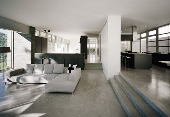 Modern aesthetic with polished concrete